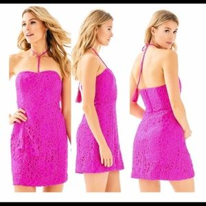 Lilly Pulitzer Demi dress size 8 corded lace berry
